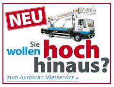 Unser Autokran-Mietservice